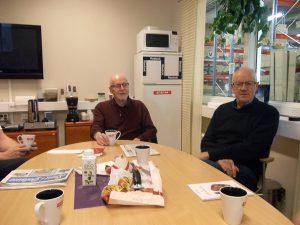Två glada Malungsgubbar från vänster Sture Mattsson och Johnny Martinsson.