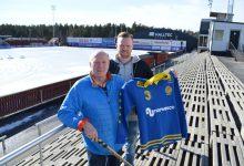 Far och son Rolf Edberg och Patrik Hedberg.