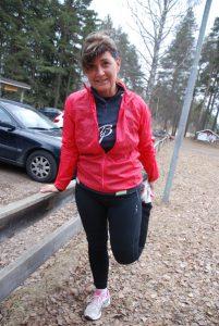 Helena Lindgren vet att uppskatta träningsmöjligheterna i Mellstaområdet.