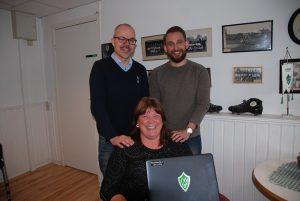 Stark trojka. Magnus Olsson, Anki Kjellberg och Robin  Laszlo brinner alla för att bidra till att lyfta Brages  varumärke ytterligare.
