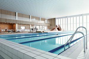 Interiör av Faluns nya badhus