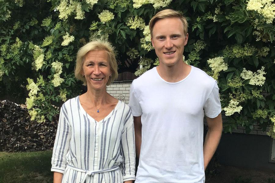 Skidåkaren Oskar Svensson  Och Moster Karin