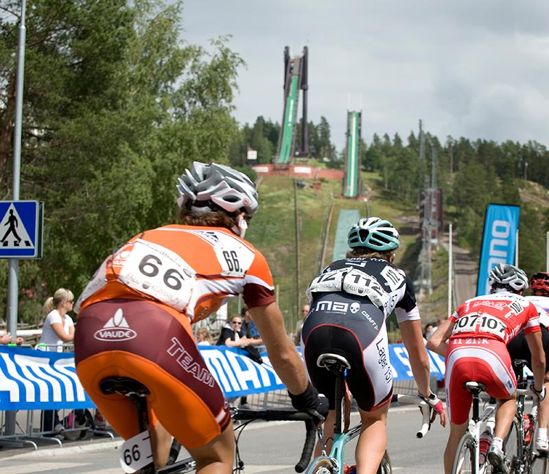 Populär Destination För Cykelåkare Ett Lyft
